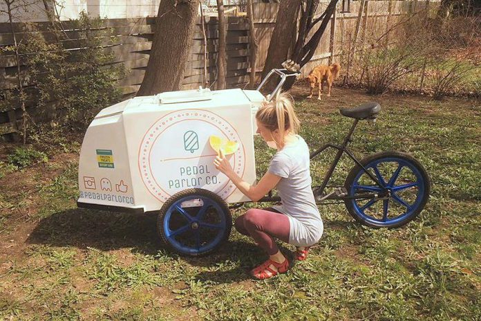 Pedal Parlor Co. is bringing back the nostalgic ice cream bike back to Peterborough. (Photo courtesy of Pedal Parlor Co.)