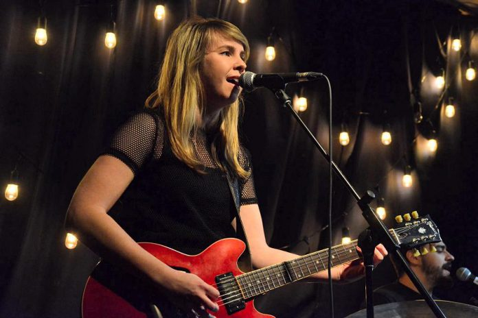 Guitar phenom and singer-songwriter Emily Burgess performs with her band (brothers Rico and Marcus Browne on bass and drums) at the Black Horse in Peterborough on Friday, May 11 and at The Arlington Pub in Maynooth on Saturday, May 12. (Photo: Emily Burgess / Facebook)