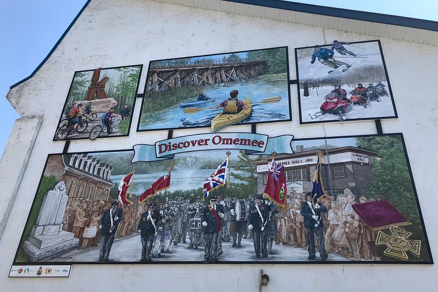 It Takes Village To Paint Mural Sharon >> New Mural Celebrates Omemee S Culture And Heritage Kawarthanow