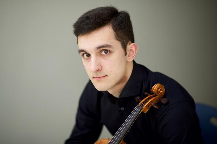 Peter Wowk, the award-winning Kawartha Youth Orchestra concertmaster alumnus, returns to Peterborough to perform with the Peterborough Symphony Orchestra on May 26, 2018. This summer, Peter will be performing throughout Ontario, Quebec, Germany and Scotland as a select member of the 2018 National Youth Orchestra of Canada. (Photo courtesy of Peter Wowk)