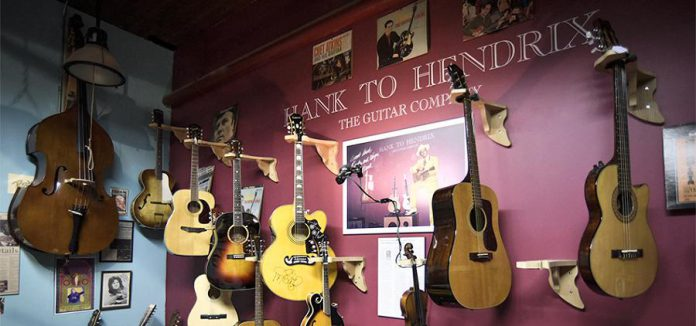 Hank to Hendrix Guitar Company is one of the local musical instrument and sound production experts who will be participating in the  Trade Show and Gear Swap for musicians on Saturday, May 26th.  (Photo: Hank to Hendrix Guitar Company)