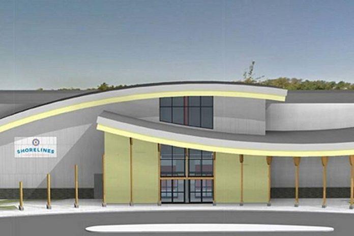 Arhitect's rendering of the completed Shorelines Casino Peterborough. (Graphic: Chris Dikeakos Architects Inc.
