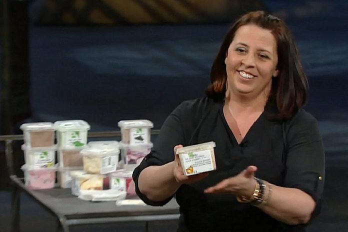 Shelley Westgarth, owner of artisanal ice cream maker Belly Ice Cream in Huntsville, appeared on the 11th season CBC's Dragons' Den. (Photo: CBC)