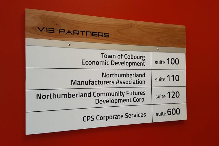 Some of the partners located in Venture13. (Photo: Jeannine Taylor / kawarthaNOW.com)
