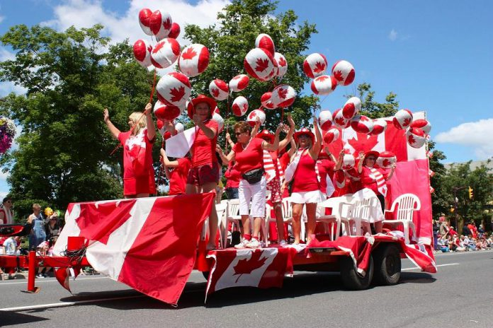 A float in the Canada Day parade in Peterborough in 2010. (Photo: Peterborough Canada Day Parade / Facebook)