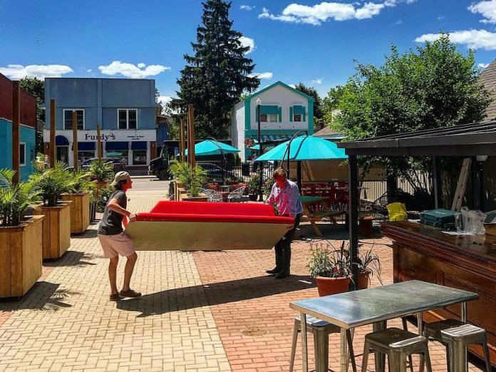 "The expansive patio at Kawartha Coffee Company's new location at The Doctor's Office at 58 Bolton Street will be the scene for ""Bloom Town Bash"" from 6 to 9 p.m. on Friday, July 6th. (Photo: Kawartha Coffee Company / Facebook)"