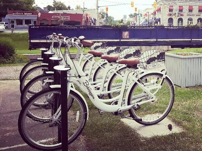 Bobcaygeon's bike share initiative is back for the summer. (Photo: Cheryl Henderson Designs / Instagram)