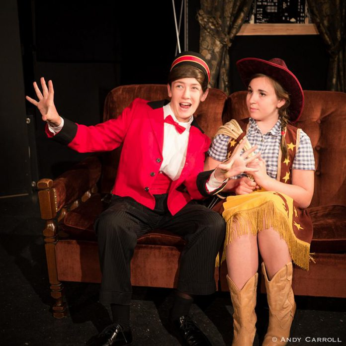 Abbie Dale as Kirby the bellhop and Emily Keller as Cowpoke. (Photo: Andy Carroll)