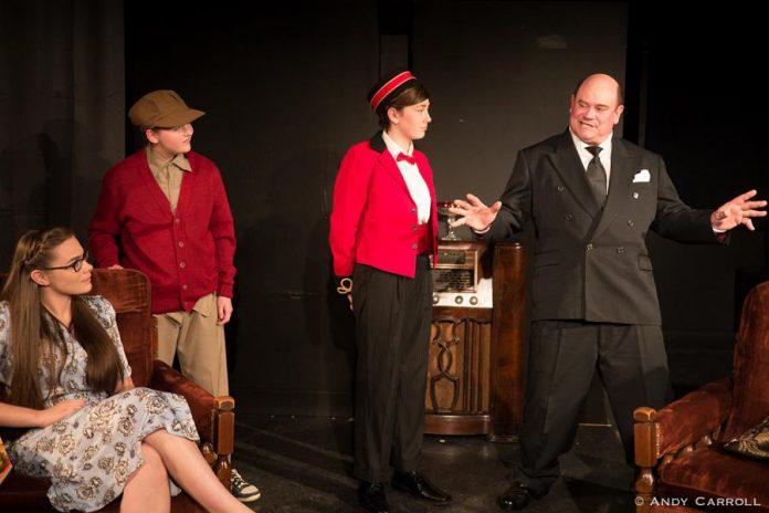 Aimee Gordon as Boo, Emma Meinhardt as Target Boy, and Brad Brackenridge as The Mixer. (Photo: Andy Carroll)