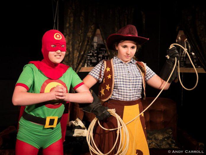 Emma Meinhardt as Target Boy and Emily Keller as Cowpoke. (Photo: Andy Carroll)