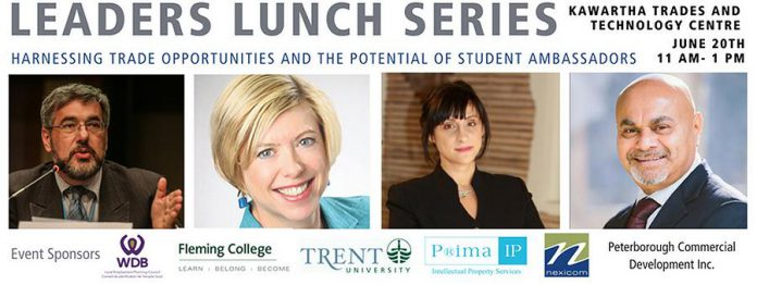 Leaders Lunch Series on trade and potential of student ambassadors