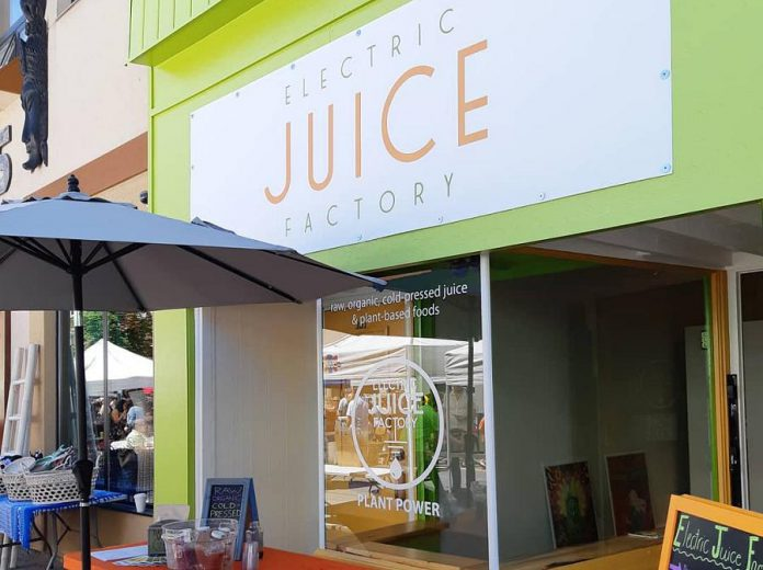 Electric Juice Factory's Peterborough location is now open at 181 Charlotte Street in downtown Peterborough. (Photo: Electric Juice Factory / Facebook)