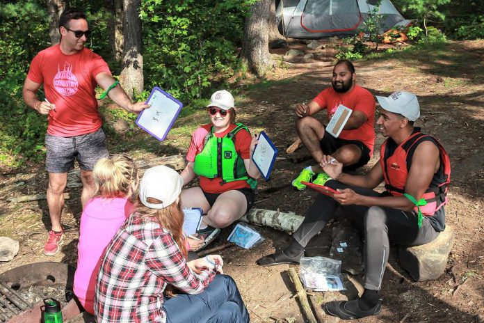 Camp Startup takes young entrepreneurs out of the traditional office and into an outdoor camp environment, where they learn communication, teamwork, and leadership skills they can transfer to their businesses. (Photo: Samantha Moss)