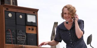 "Sarah McNeilly makes her 4th Line Theatre acting debut in ""Crow Hill: The Telephone Play"", which runs from July 3 to 28 at the Winslow Farm in Millbrook. McNeilly plays the role of switchboard operator Alice Cameron, a character inspired by the life of Ona Gardner, a switchboard operator for Beatty Telephone System, owned by Dr. Alexander Carruthers Beatty in Garden Hill (north of Port Hope) for more than 30 years in the early twentieth century. (Photo: Jeannine Taylor / kawarthaNOW.com)"