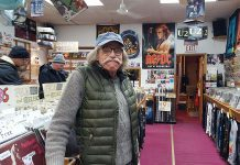 Don Skuce at Moondance Music in February 2018. Don has passed away at the age of 66 after a long battle with an incurable cancer. (Photo: Jeannine Taylor / kawarthaNOW.com)