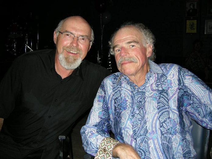 Gary Peeples and Don Skuce at the Gorden Best Theatre in 2012. (Photo: Al Black / Facebook)
