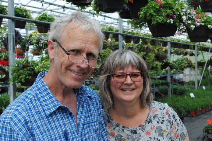 Peter Green, co-owner of The Greenhouse on the River, and Brenda Ibey, owner of The Avant-Garden Shop, are two of the original members who started the Peterborough and Area Garden Route. (Photo: Clayton Ibey)
