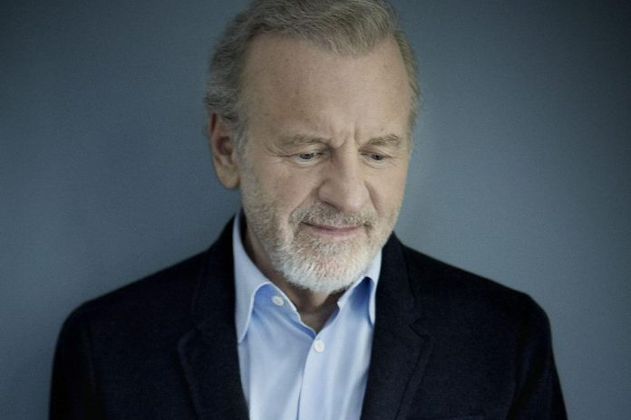 "Globus Theatre recently acquired theatrical legend Colm Wilkinson's personal grand piano. The celebrated thespian visited the Lakeview Arts Barn in 2016 to see ""Stones in His Pockets"". (Publicity photo)"