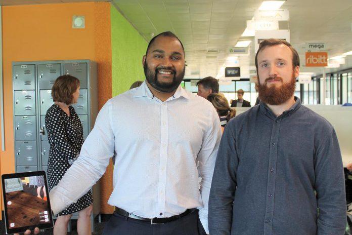 Sanu Somaweera and Chris Bollissimo of Kavtek Software. (Photo: Amy Bowen / kawarthaNOW.com)