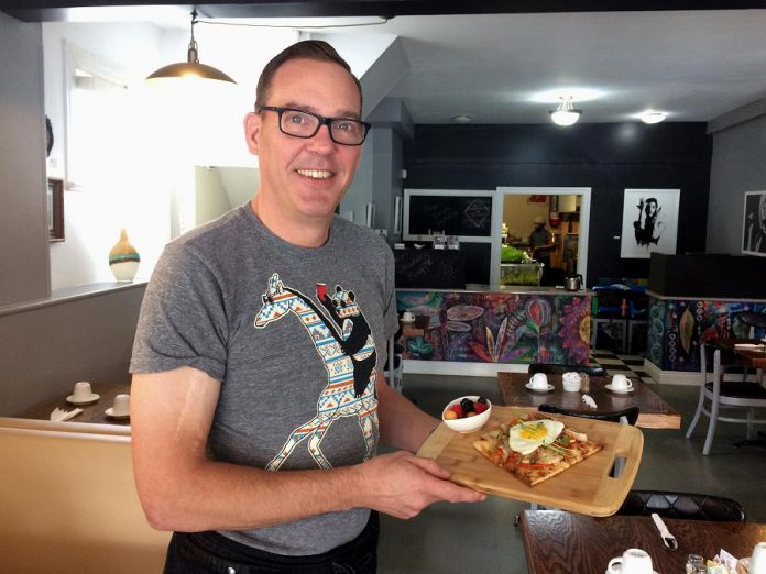 Monaghan Café's new owner and chef Jeffrey Wilfong comes to Peterborough from Ste. Anne's Spa in Grafton. (Photo: Eva Fisher / kawarthaNOW.com)