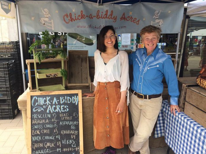 Chick-a-biddy acres wasn't ousted from the Morrow Park Farmers' Market, but decided that for their farm it was time for a new beginning.  (Photo: Eva Fisher / kawarthaNOW.com)