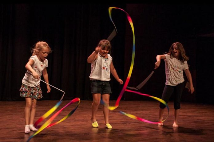 The Circus Extravaganza Camp program focuses heavily on balance, acrobatics, aerials, and object manipulation, and uses games as a means to learn. No previous experience is necessary.  (Photo: Bradley Boyle / Market Hall Performing Arts Centre)