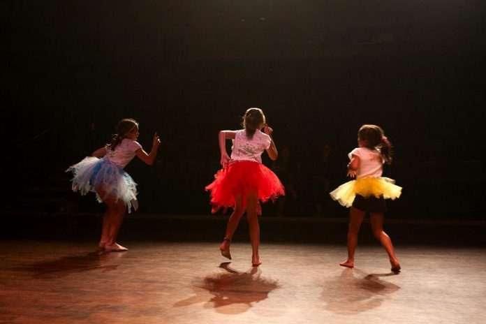 At the Dance Factor camp, instructed by Nicole Kelly, children explore many dance genres including jazz, hip hop, contemporary dance, ballet, musical theatre, and more. (Photo: Bradley Boyle / Market Hall Performing Arts Centre)