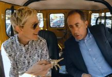 "Ellen DeGeneres is one of 12 comedians Jerry Seinfeld interviews in new episodes of ""Comedians in Cars Getting Coffee"", arriving Friday, July 6th on Netflix Canada. (Photo: Netflix)"