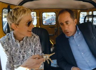 """Ellen DeGeneres is one of 12 comedians Jerry Seinfeld interviews in new episodes of """"Comedians in Cars Getting Coffee"""", arriving Friday, July 6th on Netflix Canada. (Photo: Netflix)"""