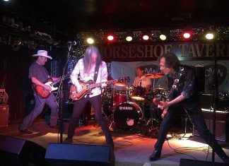 Alberta country-punk rockers Jr. Gone Wild perform on Monday, June 25th at the Red Dog in Peterborough, with local fuzz-folk duo Mayhemingways opening. (Photo: Colin Smith)