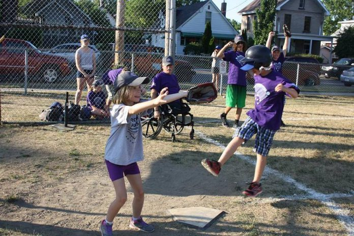 Challenger Baseball, a national organization, is an all-inclusive league designed to give children and youth aged six to 18 who are living with cognitive or physical disabilities the chance to play baseball. (Photo: Bernie Daynes)
