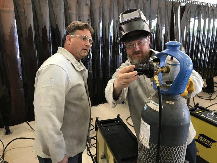 As part of the newly enhanced welding program, PVNC will also be providing advanced welding training to its welding teachers in order to provide educators with the most current techniques to pass onto students.  (Photo courtesy of Galen Eagle / PVNC)
