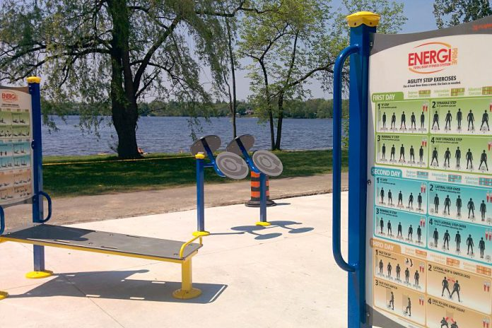 This photo of Peterborough's first adult outdoor gym in Beavermead Park was the most-viewed photo on our Instagram in May. (Photo: Bruce Head / kawarthaNOW.com)