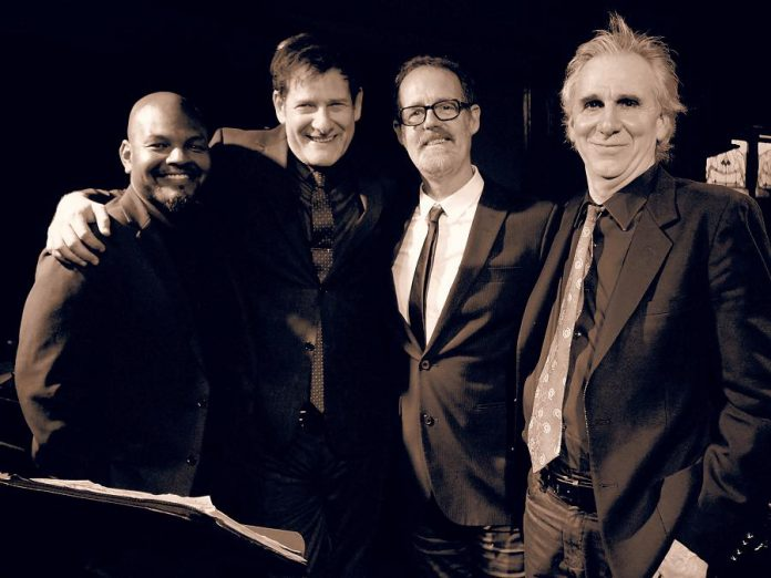 Micah Barnes (second from left) and his trio Michael Sand, Russ Boswell, and Al Cross. (Photo courtesy of Micah Barnes)