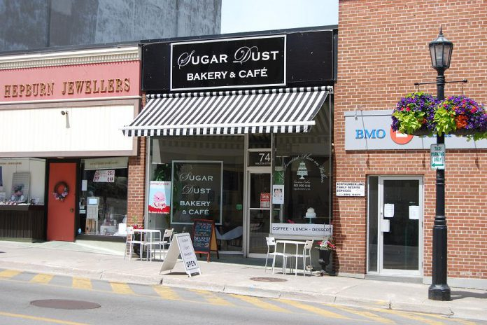 Sugar Dust Bakery & Cafe is located at 74 Walton St, in Port Hope.  (Photo: April Potter / kawarthaNOW.com)