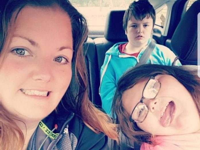 Ashley Wright with her two children, 11-year-old Brinlee and 13-year-old Logan. Logan lives with severe autisim and the Wright family was publicly shamed twice by the same man while they were visiting the Peterboroug Zoo on June 10, 2018. Wright has written an open letter to the man that is going viral. (Photo: Ashley Wright / Facebook)