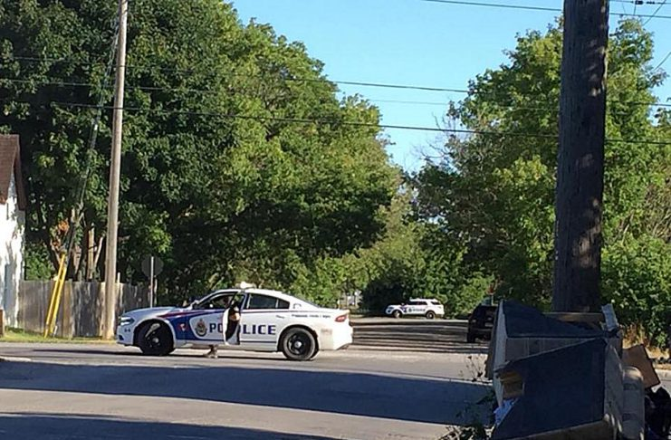 Police block acess to a section of Bethune Street in Peterborough on July 19, 2018 as they search for a potentially armed male suspect in a drug investigation. He was later arrested without further incident. (Photo: Wendy Gibson / Facebook)