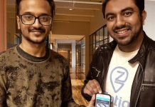 Food app start-up Zatiq co-founder and CTO Hasan Jafri with co-founder and CEO Sultan Moni. Zatiq, which uses artifical intelligence to match consumer food cravings with local meal locations, is expanding to Africa and Pakistan. (Photo courtesy of the Innovation Cluster)