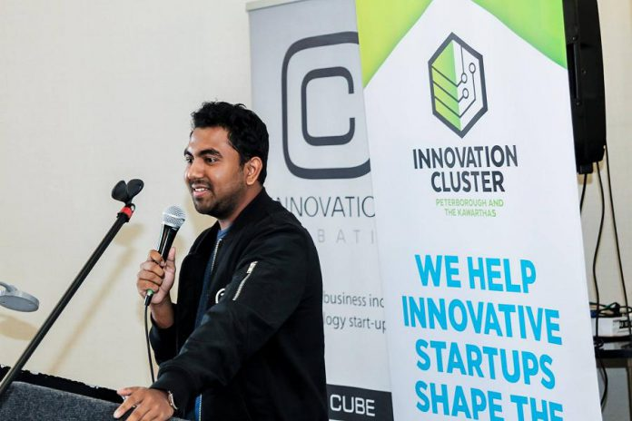 Zatiq co-founder and CTO Hasan Jafri with co-founder and CEO Sultan Moni. (Photo courtesy of the Innovation Cluster)