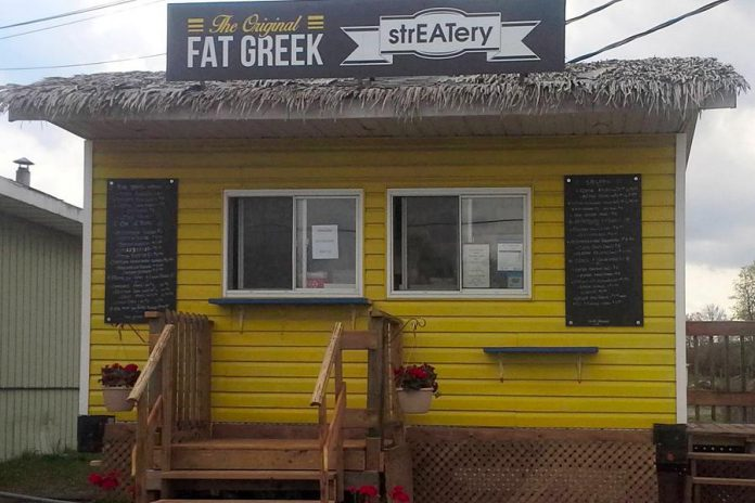 The Original FAT Greek strEATery food truck in Ennismore. (Photo: George Anagnostou / Facebook)