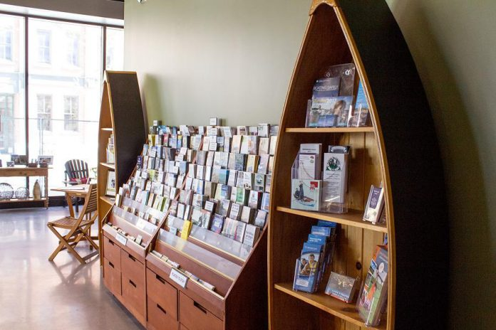 Open year-round, the Peterborough & the Kawarthas Tourism Visitor Centre provides a wide selection of free information including travel guides, brochures, road maps and trail guides. (Photo: Peterborough & the Kawarthas Tourism)