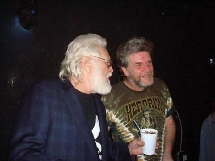 Ronnie Hawkins with Buzz Thompson. (Photo courtesy of Theresa Mackenzie)