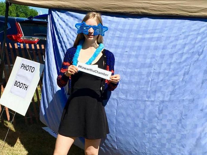 Summer student Tess staffed the Chamber's info station at last weekend's Lakefield Jazz, Art & Craft Festival, providing local information and running the photo booth.