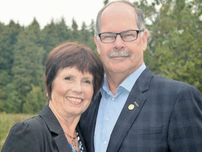 Susan Davidson and her husband