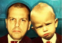 In comedian Chris Gibbs' one-man show 'Like Father, Like Son? Sorry', he talks about his own experience becoming a father as well as the father figure in culture. The show runs from July 24 through August 4, 2018 at Globus Theatre at the Lakeview Arts Barn in Bobcaygeon. (Graphic courtesy of Chris Gibbs)