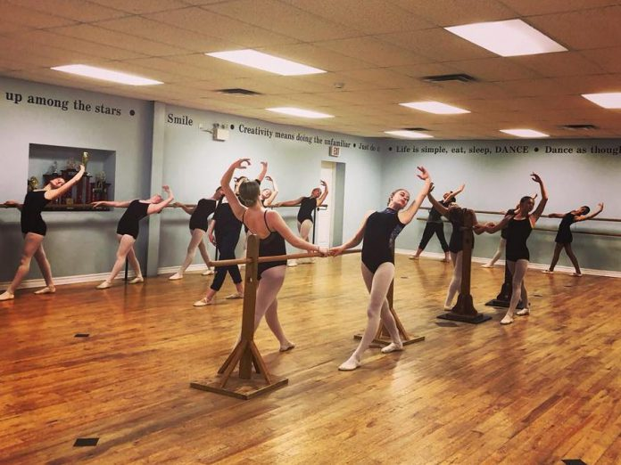 "Dancers rehearse in the studio on the first day of the intensive for ""One Earth"". (Photo courtesy of Blake Richardson)"
