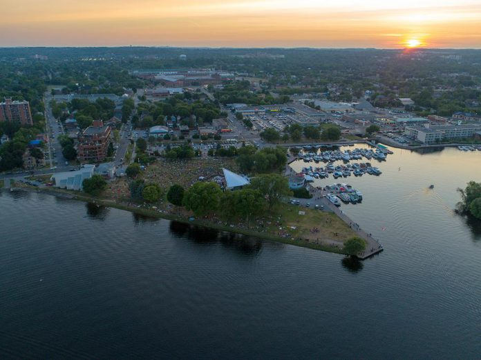 An aerial view of the crowd at Del Crary Park on Little Lake. (Photo: Jason / Tauruscope Photography)