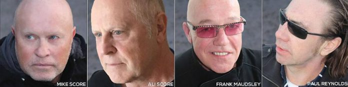 "The original members of A Flock of Seagulls (Mike Score, Ali Score, Frank Maudsley, and Paul Reynolds) reunited this year to record ""Ascension"", the first studio album since 1984 featuring the original line-up. (Photos: A Flock of Seagulls)"