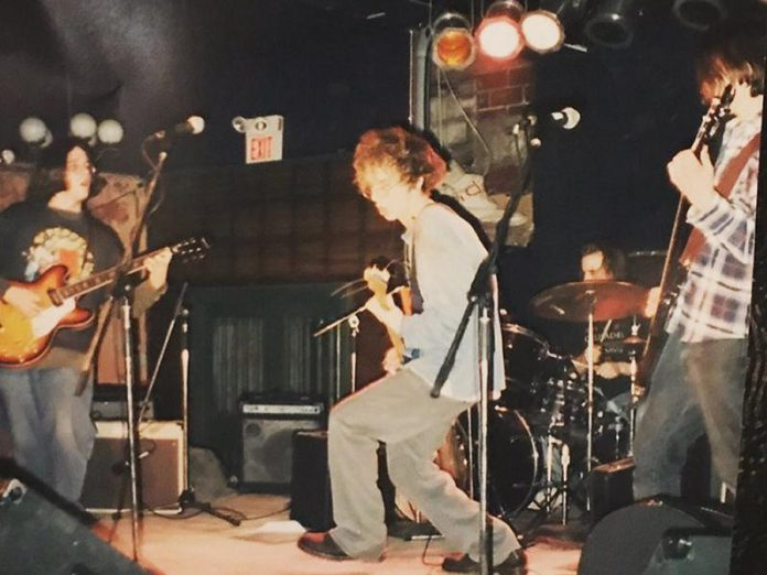 Founding members of The Trews, brothers John-Angus and Colin  MacDonald with Jack Syperek, performing as teenagers at The Marquee in Halifax in the late 1990s. The Trews originally formed with the name One I'd Trouser in 1997 before becoming The Trews with since-departed drummer Sean Dalton. (Photo: The Trews / Facebook)
