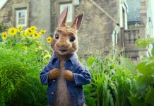 """The Ashburnham Village Business Improvement Area is screening the 2018 film """"Peter Rabbit"""" on a 24-foot outdoor movie screen in Peterborough's East City at 9 p.m. on Sunday, August 26, 2018. (Photo: Sony Pictures Entertainment)"""
